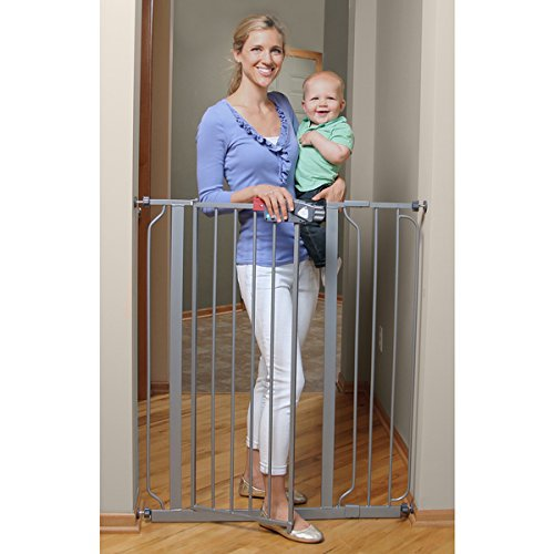 Regalo Deluxe Easy Step Extra Tall Platinum Gate, Keep Child