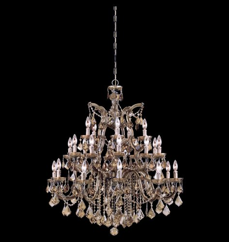 Crystorama 4470-AB-GT-MWP Maria Theresa - Ten Light Chandelier, Golden Teak Hand Cut ()