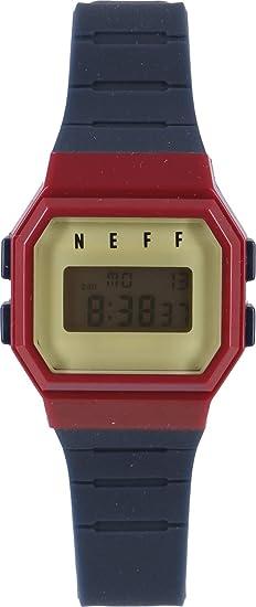 Neff adulto Flava reloj - azul marino/marrón/de sarga talla única: Amazon.es: Relojes