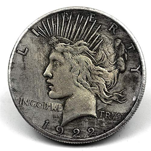 QiQiFanFan 1 PC of Best Archaize American 1922 Statue of Liberty and Peace Coin Silver Dollar (for Collection only)