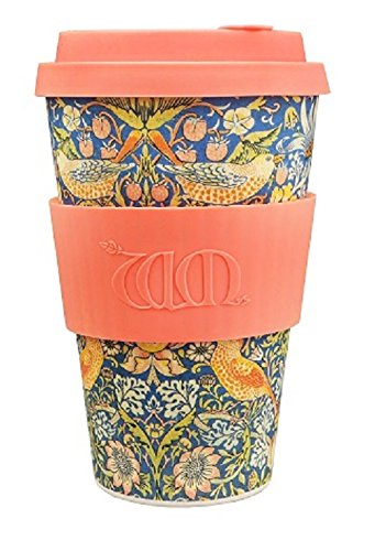 Ecoffee Cup + William Morris: Thief with Coral Silicone 14oz 600 508