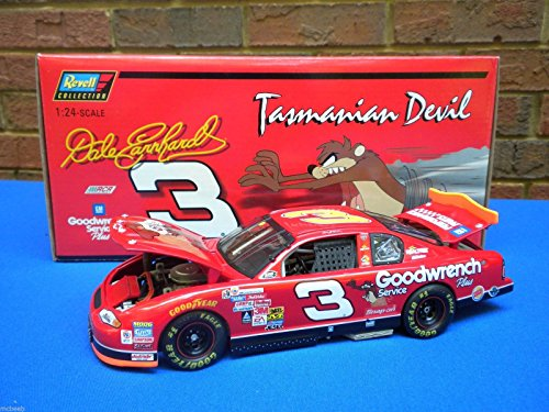 - Dale Earnhardt Sr #3 Taz Tasmanian Devil 2000 Edition No Bull Paint Scheme Revell Collection 1/24 Scale Diecast Hood and Trunk Opening Clear Window Bank & Bonus 1/64 Scale Diecast Hood Opening Car Limited Edition