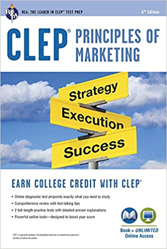 CLEP® Principles of Marketing Book + Online (CLEP Test