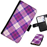 Hairyworm - Tartan LG G3 (D855, D850, D851) leather side flip wallet cell phone case, cover