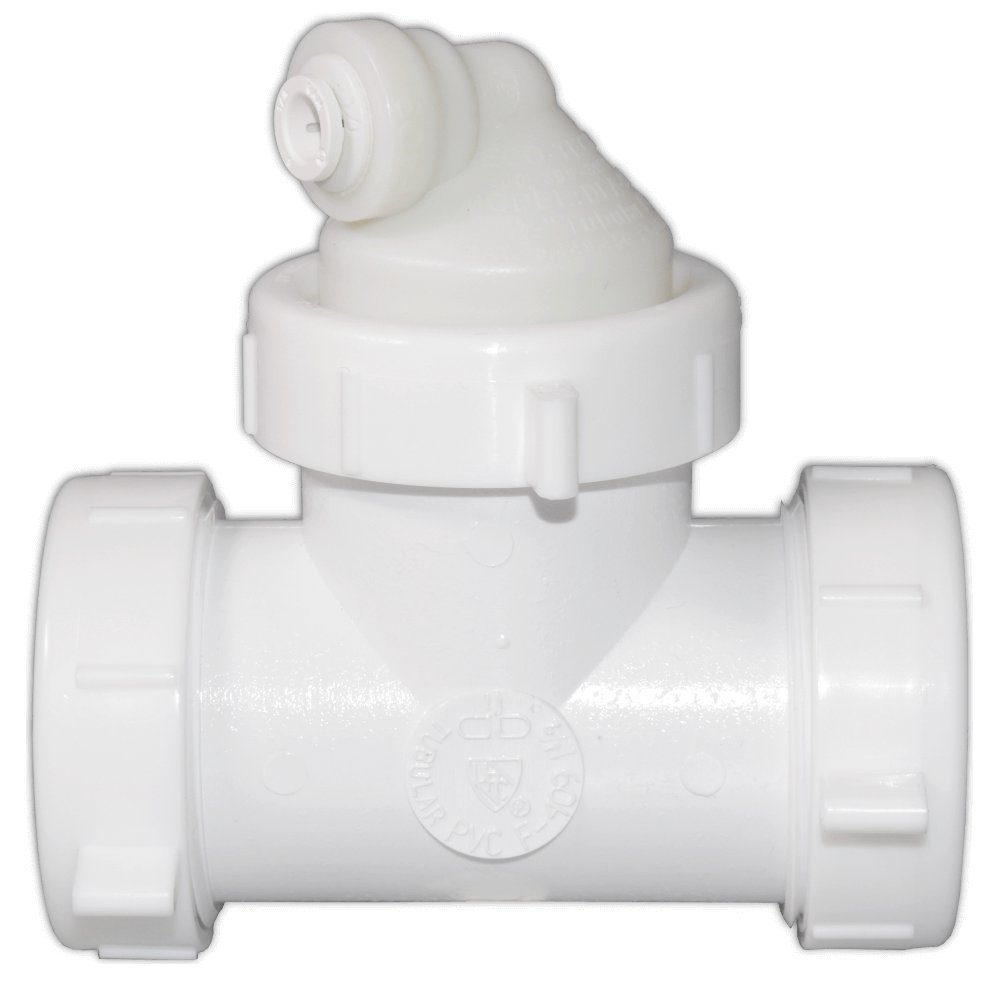 Reverse Osmosis Drain Line Adapter with 1/4'' Quick Connect Push In Inlet