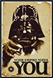 Star Wars Your Empire Needs You 24x36 Wood Framed Poster Art Print