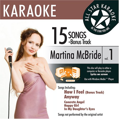 ASK-1549 Country Karaoke; Martina McBride Greatest Hits Vol. 1 Martina Mcbride Greatest Hits Cd