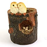 Top Collection 5.25-Inch Miniature Fairy Garden and Terrarium Owl Lovers Functional Flower Pot for Succulents, Mini