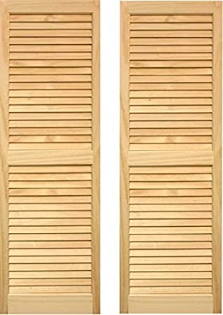 Amazon Ltl Home Products Shl39 Exterior Solid Wood Louvered