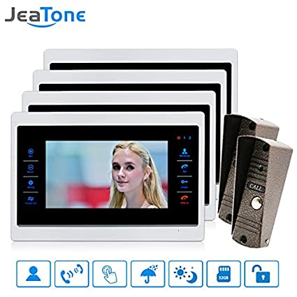 Charmant Jeatone Video Intercom Door Phone Home Intercom High Resolution Front Door  Monitor System Inter Conversation