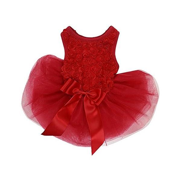 Kirei Sui Rosettes Dog Dress Dog Dress Medium Red