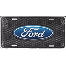 Ford Oval On Honeycomb Metal License Plate