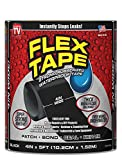 Flex Tape Rubberized Waterproof Tape, 4' x 5', Black