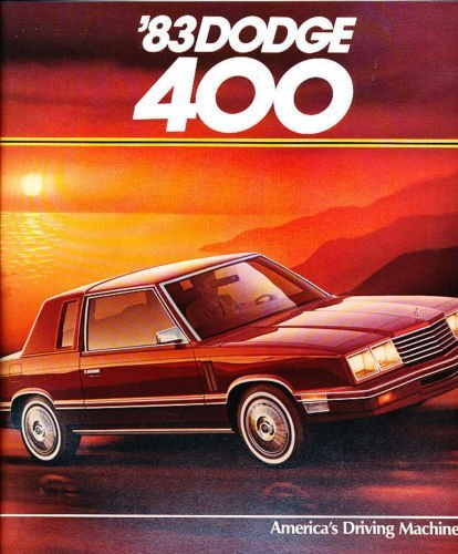 1983 Dodge 400 14-page Original Car Sales Brochure Catalog - Coupe and Convertible