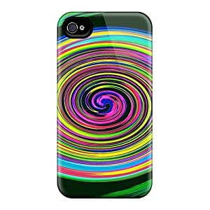 Brand New 4/4s Defender Case For Iphone (colorful Whirl)