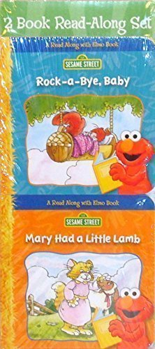 Sesame Street Read Along with Elmo Board Books - Rock-a-Bye Baby and Mary Had a Little Lamb (2 Book Set)