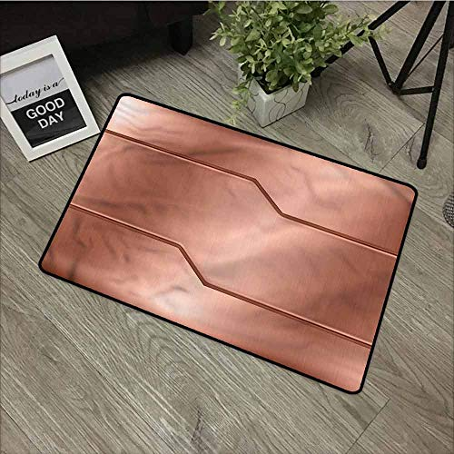 Industrial,Entry Way Outdoor Door Mat Realistic Look Plate Anti Slip,Durable & Washable,W39xH20 inch