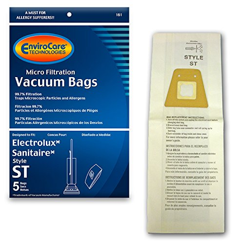 Types Bags Micro Vacuum Filtration - EnviroCare Replacement Micro Filtration Vacuum Bags for Eureka Sanitaire Style ST Uprights 5 Pack