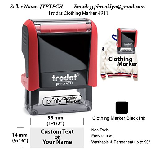 - JYP Clothing Marker Stamp, Suitable For Books & Accessories, Personalised Garment, Children's School Uniform / Clothes / Clothing Labels For Kids/Children, No Need To Sew, For School Wear.