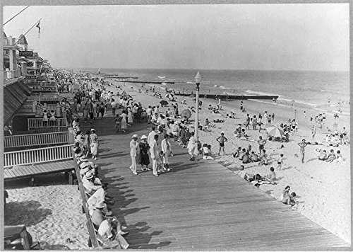 Photo: Boardwalk,Beach,Ocean City,Maryland,MD,1937,Swim Suits,Swimming,Bathing Suits