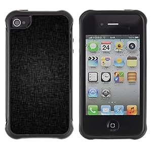 "Pulsar iFace Series Tpu silicona Carcasa Funda Case para Apple iPhone 4 / iPhone 4S , Negro Fondo Gris Estructura patrón de la tela"""