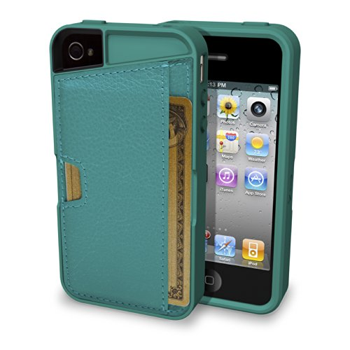 Silk iPhone 4/4S Wallet Case - Q CARD CASE [Slim Protective CM4 Cover] - Pacific Green