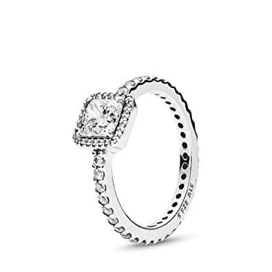 98241c4c146 PANDORA Timeless Elegance Ring, Sterling Silver, Clear Cubic Zirconia, Size  6