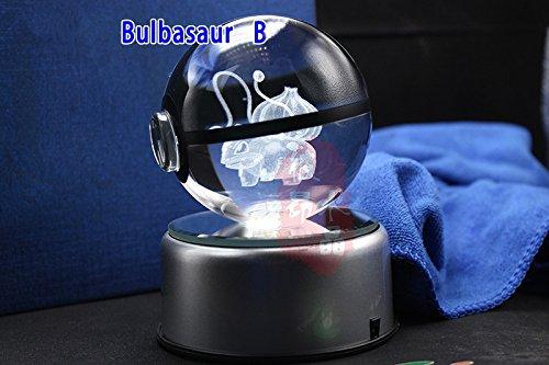 Pokemon Crystal Ball Bulbasaur (B) - K9 Crystal Size 3.1