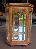Mini Vintage Cupboard Teak Wood Cabinet Craft Handmade Carved Thai Furniture 5''