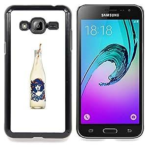 - Cola White Black Soda Pop Design/ Duro Snap en el tel????fono celular de la cubierta - Cao - For Samsung Galaxy J3