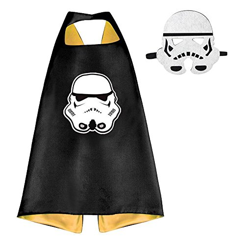 [Over 35+ Styles Superhero Halloween Party Cape and Mask Set for Kids (Stormtrooper)] (Devil Masks For Sale)