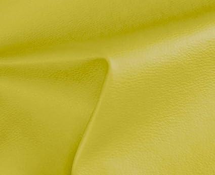 HAPPERS 0,50 Metros de Polipiel para tapizar, Manualidades, Cojines o forrar Objetos. Venta de Polipiel por Metros. Diseño Solar Color Lima Ancho ...