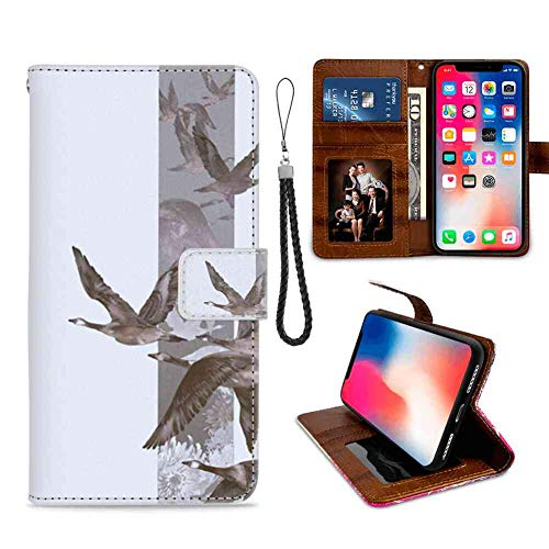 Apple iPhone Xr (6.1in) Wallet Case Wild Flying Geese Leather