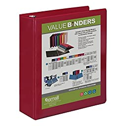 Samsill 2-Inch View Binder, Burgundy (18664)