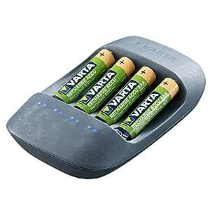 Varta - Cargador para 4 Pilas Ni-MH AA/AAA, 50% Bioplástico ...