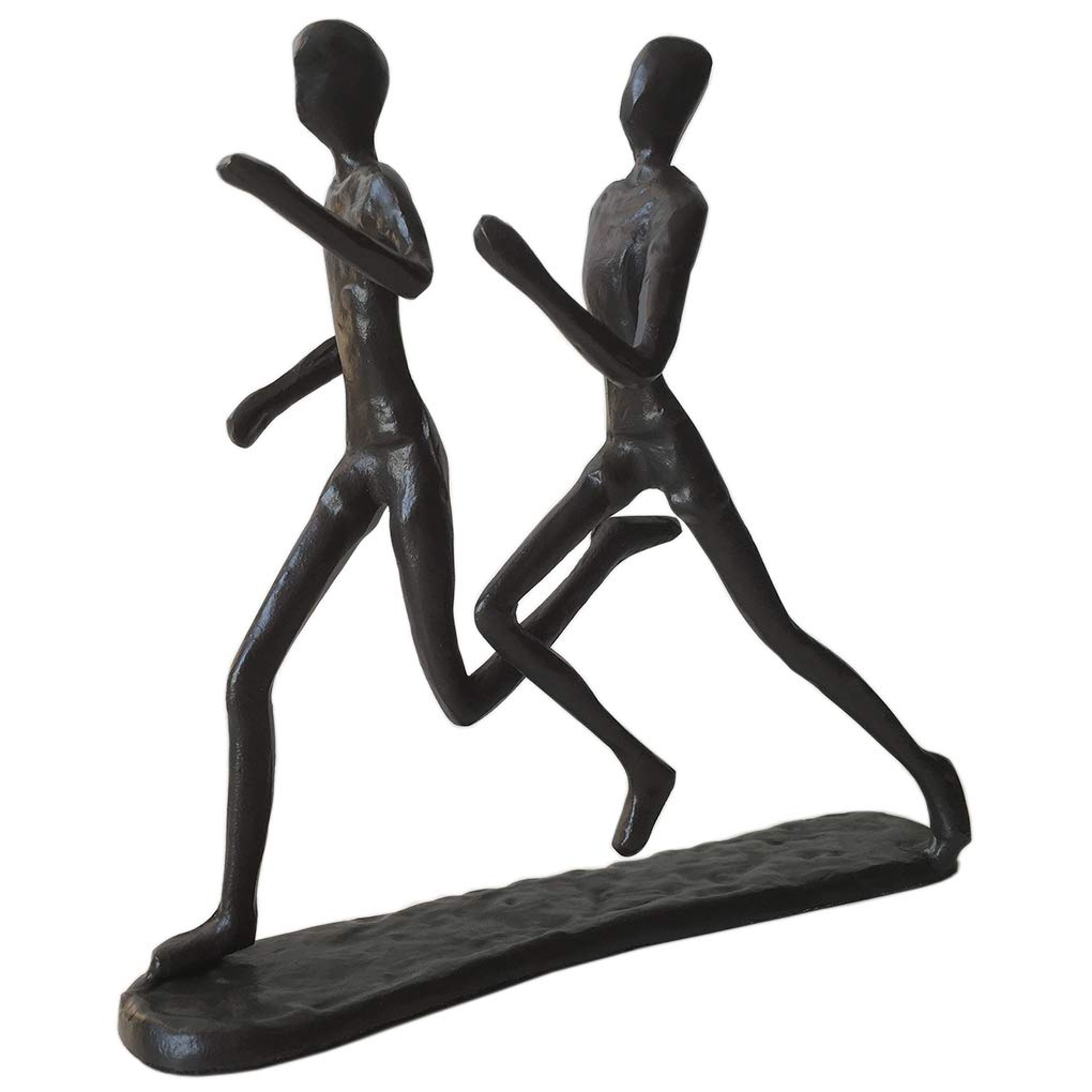 Cast Iron Art Sculpture Home Decoration Statue for The Running Enthusiast Metal Figurine Art Home Décor for Runners Sportsman Cyclist Bicycle Enthusiast (2# Runners) (6# Runners)