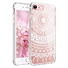 iPhone 6 Case, iPhone 6s Case,JAHOLAN TPU Silicone Gel Soft Clear Case Cover for Iphone 6 6S - White Tribal Mandala