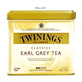 Twinings Earl Grey Loose Leaf Tea Tin 7.05 oz each (6 Items Per Order)