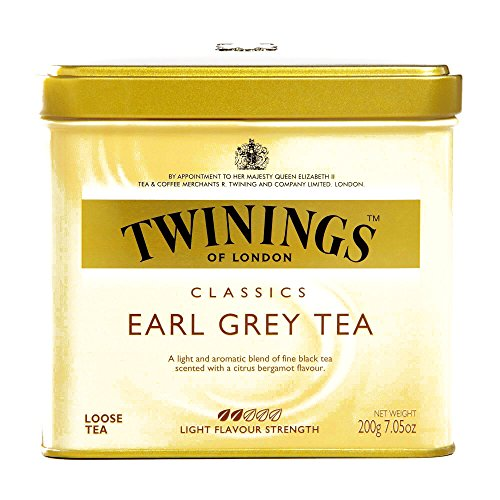 Twinings Earl Grey Loose Leaf Tea Tin 7.05 oz each (6 Items Per Order) by Twinings