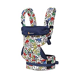 Ergobaby Carrier, 360 All Carry Positions Baby Carrier, Limited Edition Keith Haring, Color Pop