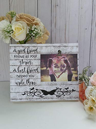 Wooden picture frame, best friend photo frame, measures 8x10 in, Your choice of colors