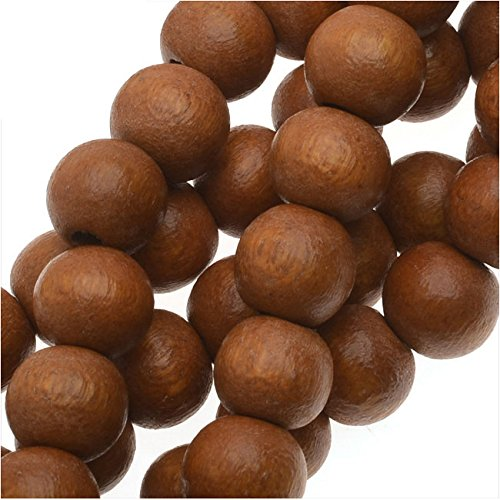 Pukalet Wood Beads, Dyed Smooth Round 6mm, 66 Pieces, Bayong Brown Lacquer