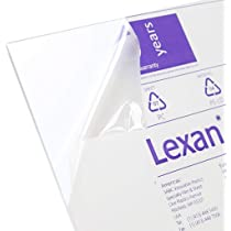 """1//32 inch Lexan PC for Face Shields 0.030/"""" x 24 x 24/"""" Clear Polycarbonate Sheet"""