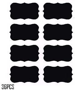 Chalkboard Labels,Fashionclubs Reusable Blackboard Stickers for the Kitchen, Pantry, Mason Jars, Wine Glasses 36PCS