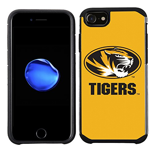 (Prime Brands Group Textured Team Color Cell Phone Case for Apple iPhone 8/7/6S/6 - NCAA Licensed University of Missouri Tigers)