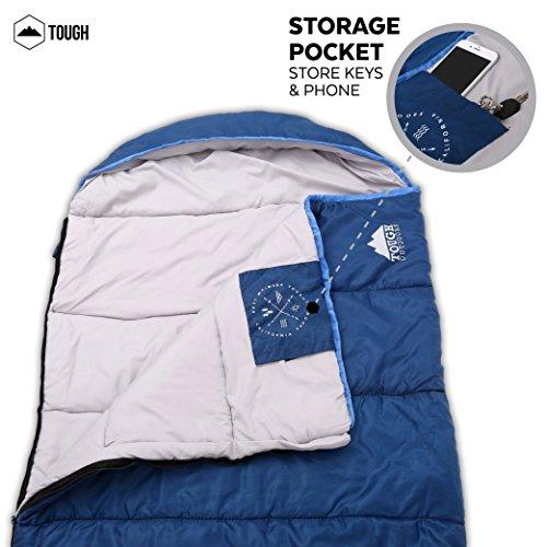 All Season Xl Hætteklædte sovepose med Compression Sack-8325
