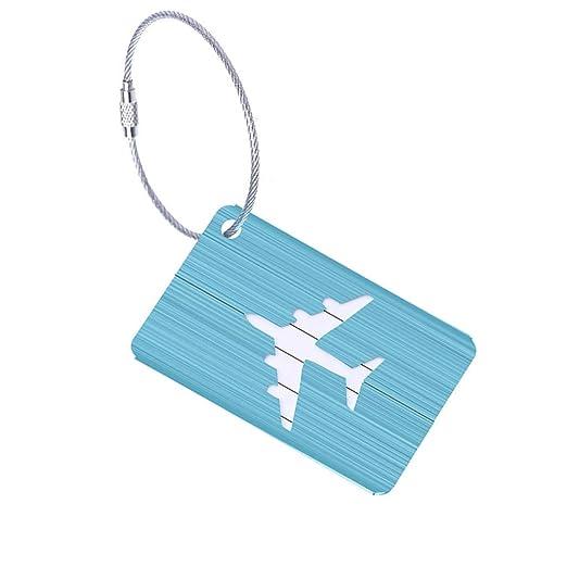 QIULAO Etiquetas de equipaje, Etiqueta de equipaje de ...