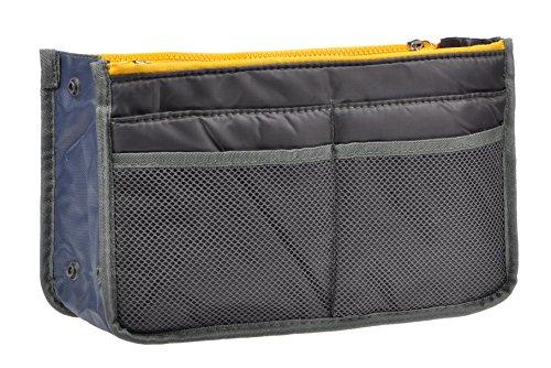 Vercord Purse Organizer Insert Travel Handbag Organizer Bag in Bag 13 Pockets Grey Medium