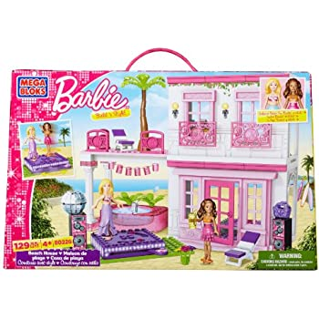 Amazon.com: Mega Bloks Barbie Casa de Playa: Toys & Games