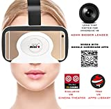 Irusu mini VR virtual reality 3d glasses vr headset - virtual reality vr headset with BIGGER 42MM HD OPTICAL RESIN VR GLASSES for better FOV - LIGHTWEIGHT for all android and ios mobiles